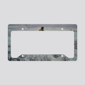 Lone Cold Brave License Plate Holder