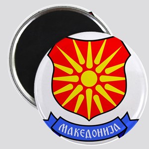 Macedonia Flag Crest Magnet