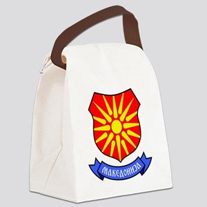 Macedonia Flag Crest Canvas Lunch Bag