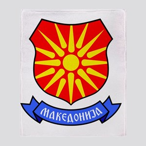 Macedonia Flag Crest Throw Blanket