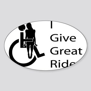 i-give-great-rides2 Sticker (Oval)