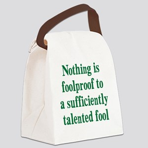 talented-fool_tall2 Canvas Lunch Bag