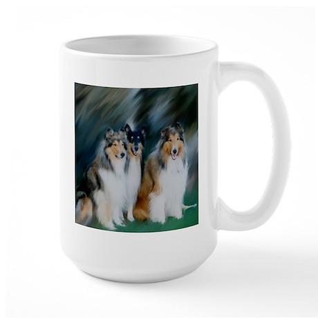 Collie Trio Large Mug