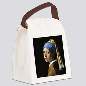 Girl With a Pearl Earring Canvas Lunch Bag