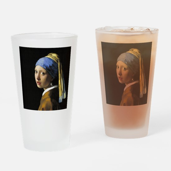 Girl With a Pearl Earring Drinking Glass