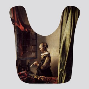 Girl Reading a Letter at an Open Window Bib