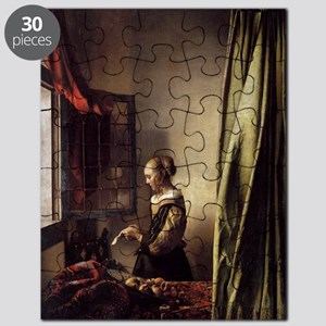 Girl Reading a Letter at an Open Window Puzzle