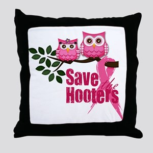 save the hooters2 Throw Pillow