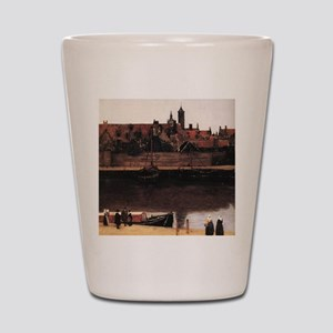 View of Delft (detail) Shot Glass