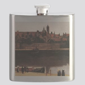 View of Delft (detail) Flask