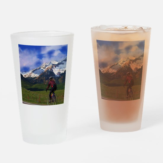 Cycling_the_Rockies Drinking Glass