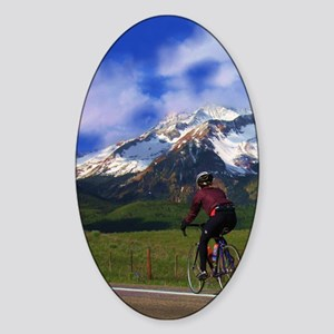 Cycling_the_Rockies Sticker (Oval)