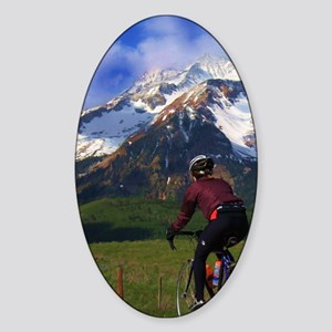 Cycling_the_Rockies_iPhone Sticker (Oval)