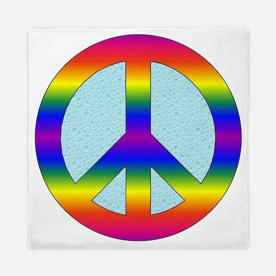 Peace Sign (Rainbow) Queen Duvet