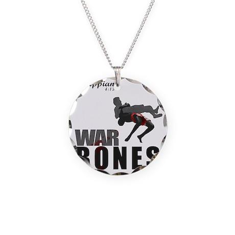 Bones2_tshirtGraphics Necklace Circle Charm