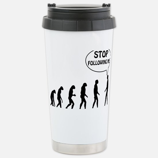 stop following Stainless Steel Travel Mug