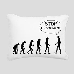 stop following Rectangular Canvas Pillow