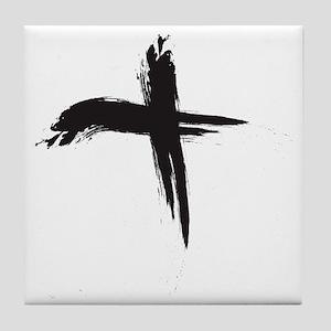 Ash Wednesday (Cross sq) Tile Coaster