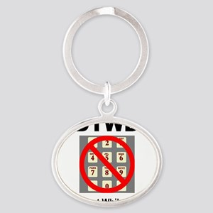 DTWD 2.25x2.25_button Oval Keychain