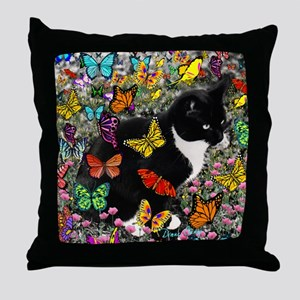 Freckles in Butterflies I Throw Pillow