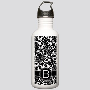 Damask Monogram B Stainless Water Bottle 1.0L