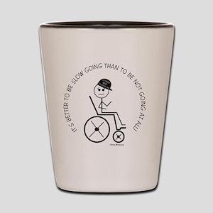 button_slow_going_wheelchair1 Shot Glass