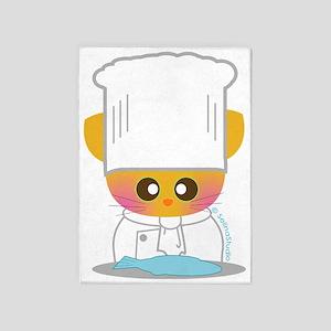 cat chef 2 5'x7'Area Rug