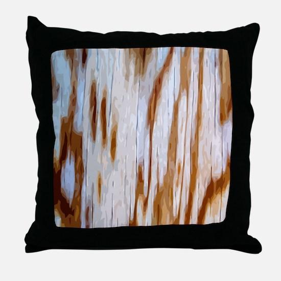 WoodGrBpatMP Throw Pillow