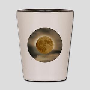 moon button Shot Glass