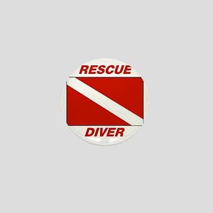 Rescue Diver Mini Button