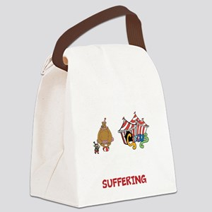 3 ring circus blk Canvas Lunch Bag