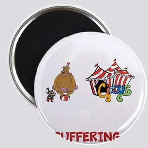 3 ring circus blk Magnet