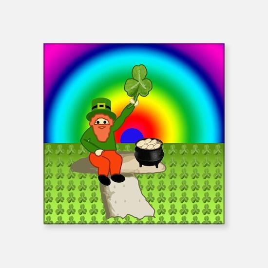 """Leprechaun2 Square Sticker 3"""" x 3"""""""