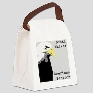 Scott Walker American Patriot Canvas Lunch Bag