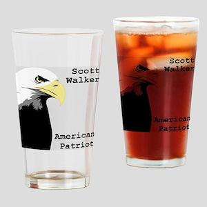 Scott Walker American Patriot Drinking Glass