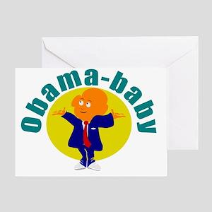 cute obama baby Greeting Card