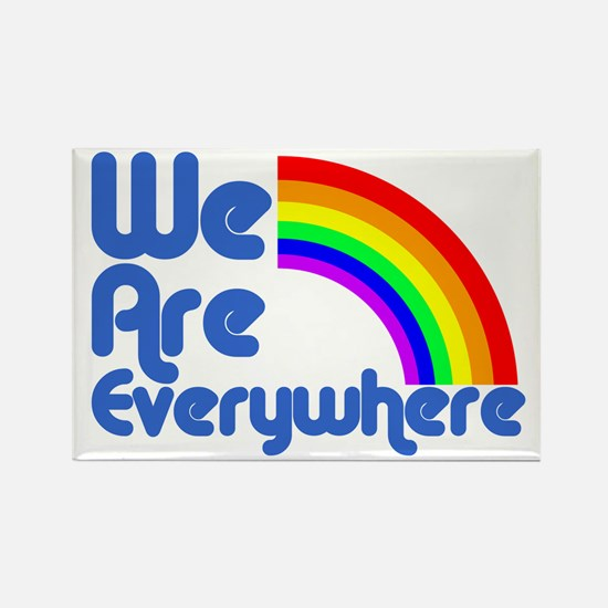 We Are Everywhere Rectangle Magnet