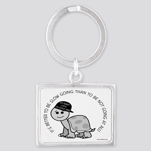 10x8slow_going_turtle Landscape Keychain