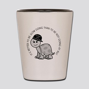 button_slow_going_turtle Shot Glass