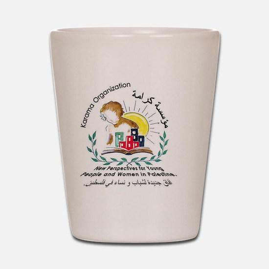 karama logo Shot Glass