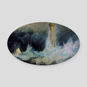 Bell Rock Lighthouse Oval Car Magnet