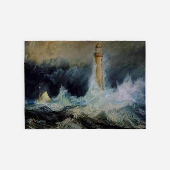 Bell Rock Lighthouse 5'x7'Area Rug