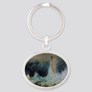 Bell Rock Lighthouse Oval Keychain
