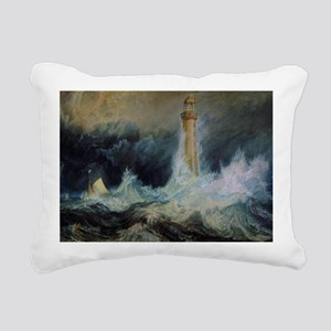 Bell Rock Lighthouse Rectangular Canvas Pillow