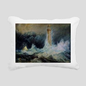 Bell Rock Lighthouse Rectangular Canvas Pillow
