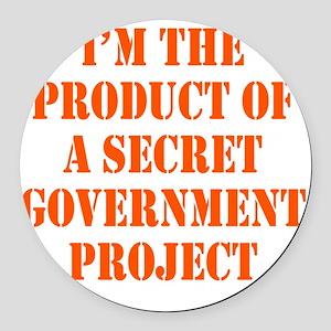 govt-project2 Round Car Magnet