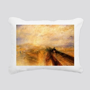Rain, Steam, and Speed Rectangular Canvas Pillow