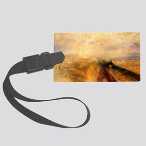 Rain, Steam, and Speed Large Luggage Tag