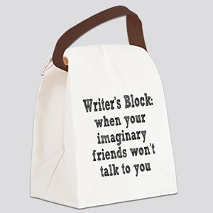 writers-block3 Canvas Lunch Bag