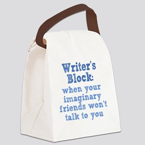 writers-block_rnd1 Canvas Lunch Bag